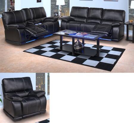New Classic Home Furnishings 2038230MBKSLG Electra Living Ro