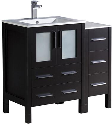 "Fresca FCB622412XXX Torino 36"" Modern Bathroom Vanity with X Sink in"