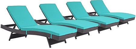"Modway EEI2429EXPTRQSET 110"" Water Resistant Lounge Chair"