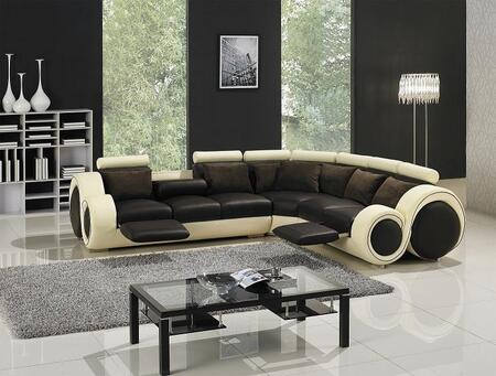 VIG Furniture VGYIT27C  Sofa and Chaise Leather Sofa