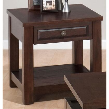 Jofran 4843 Transitional Rectangular 1 Drawers End Table