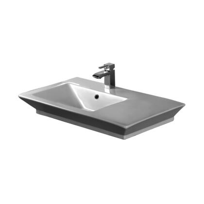 "Barclay 4369WH White 8"" Wide Spread Sink"