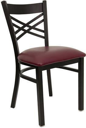 Flash Furniture XU6FOBXBKBURVGG Hercules Series Contemporary Vinyl Metal Frame Dining Room Chair