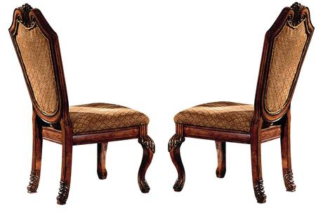Acme Furniture 04077 Chateau De Ville Series Traditional Fabric Wood Frame Dining Room Chair