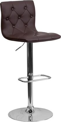 Flash Furniture CH112080BRNGG Residential Vinyl Upholstered Bar Stool