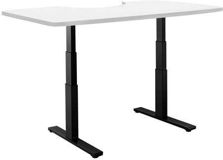 "Vifah ActiveDesk 53"" Standing Desk with Electric Adjustable Height, Sit-to-Stand Motor, Smart Keypad, Black Steel Frame and Grade-A Wood Top in"