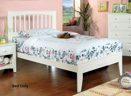 Furniture of America CM7908WHTBED Pine Brook Series  Twin Size Bed