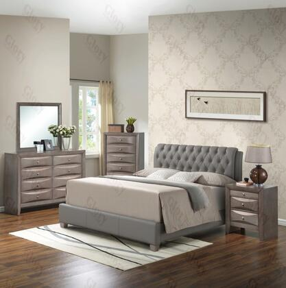 Glory Furniture G1505CKBUPDMN G1505 King Bedroom Sets