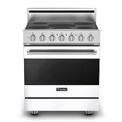 Viking RVER3305BWH  Freestanding Range with Smoothtop Cooktop, 4.7 cu. ft. Primary Oven Capacity, in White