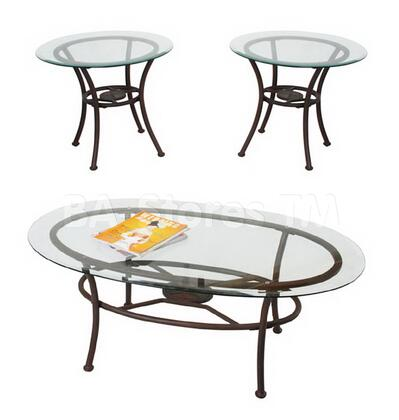 "Acme Furniture 17198 48"" Transitional Living Room Table Set"