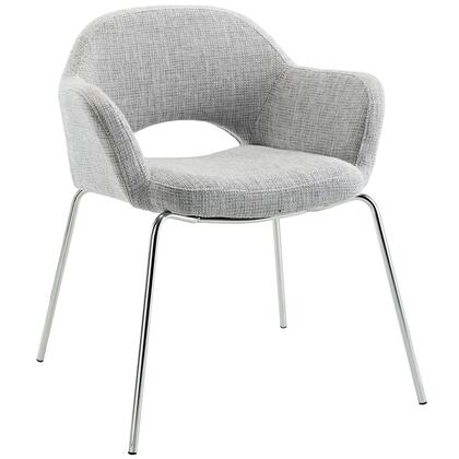 Modway EEI623LGR Cordelia Series Modern Fabric Metal Frame Dining Room Chair