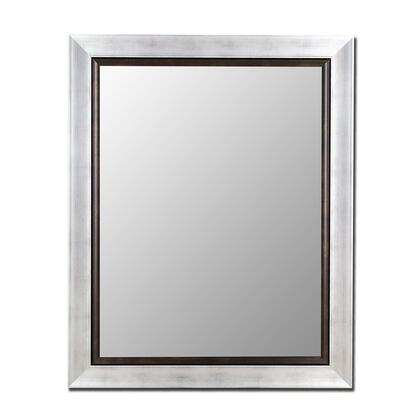 Hitchcock Butterfield 20050X Vintage Silver & Black Liner Framed Wall Mirror