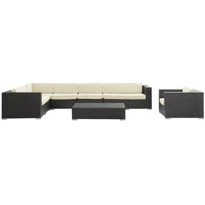 Modway EEI654EXPWHI Modern Rectangular Shape Patio Sets