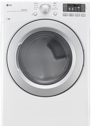 """LG DLX317XW 27"""" XX Dryer with 7.4 cu. ft., 8 Drying Cycles, Sensor Dry Technology, LED Display, Reversible Door Swing, Stackable, NFC Tag On Technology, and Energy Star Qualified in White"""