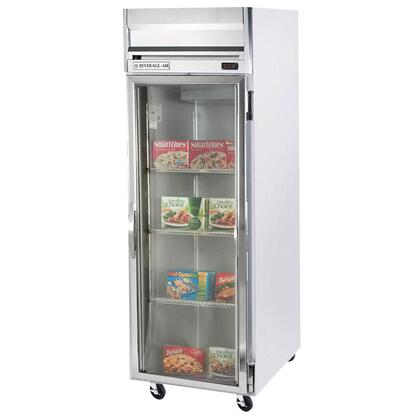 "Beverage-Air HF1-1 26"" Horizon Series One Section [Solid Door] Reach-In Freezer, 24 cu.ft. capacity, Stainless Steel Front, Gray Painted Sides, Aluminum Interior"