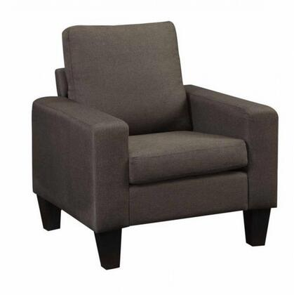 """Coaster Bachman 32"""" Armchair with Track Arms, Tapered Wood Legs and Fabric Upholstery in"""