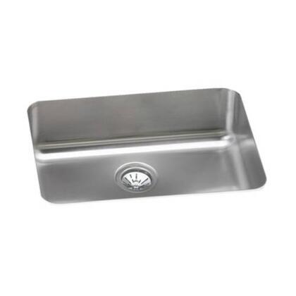 """Elkay ELU231710 24"""" Undermount Single Bowl 18-Gauge Stainless Steel Sink"""