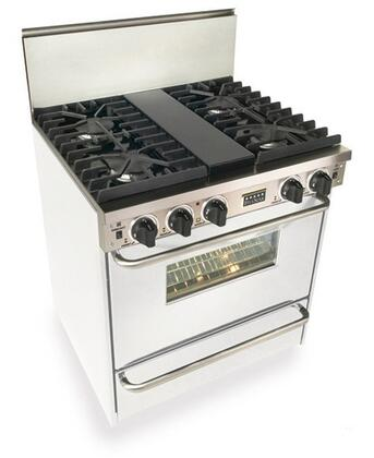 """FiveStar WXN28171W 30"""" Freestanding Gas Range With 4 Sealed Ultra High-Low Burners, 3.69 Cu. Ft Capacity. TurboFlow Convection, Manual Clean, 3 Racks"""