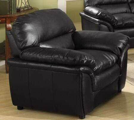 Meridian 604BLC Soho Series Bonded Leather Armchair with Wood Frame in Black