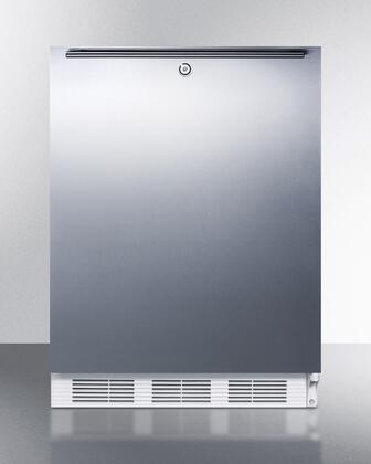 """Summit AL650BIX 24"""" Top Freezer Refrigerator with 5.1 cu. ft. Capacity, ADA Compliant, Dual Evaporator, Cycle Defrost, Zero Degree Freezer and Door Storage in"""