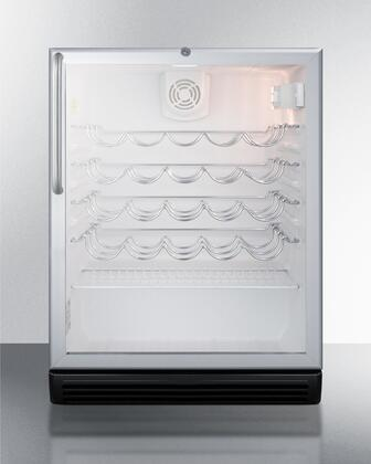 "Summit SWC6GBLCSS 23.63"" Built-In and Freestanding Wine Cooler"