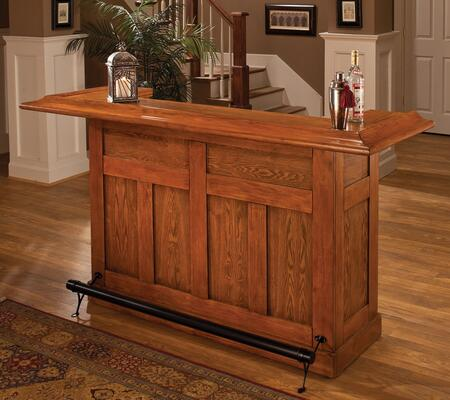 """Hillsdale Furniture 6257 Classic Large 78"""" Long Bar with 3 Doors, 12 Bottle Wine Rack, Birch and Wood Veneer over MDF Construction in"""