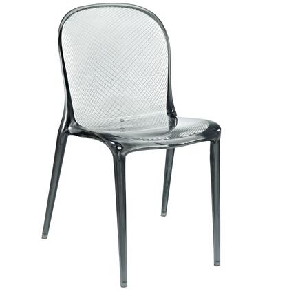 "Modway EEI-789 Scape 17"" Stackable Dining Chair with Modern Design, Translucent Style, and Durable Polycarbonate Acrylic Construction"
