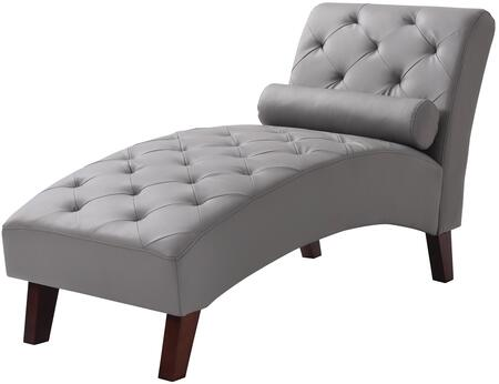 Glory Furniture G227CHS Newbury Series Contemporary Faux Leather Wood Frame Chaise Lounge