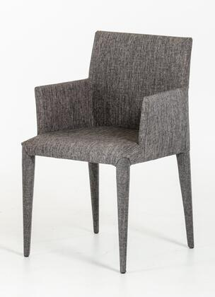 VIG Furniture VGEUMC8219CHA Modrest Medford Series Modern Fabric Metal Frame Dining Room Chair