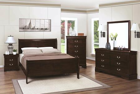 Coaster Louis Philippe 4 Piece Full Size Bedroom Set