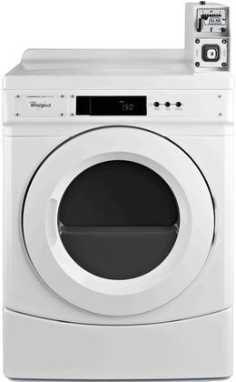"""Whirlpool CxD9050AW 27"""" Commercial Dryer with 6.7 cu. ft. Capacity, Large Capacity Metercase, Microprocessor Controls and x CFM Airflow, in White"""
