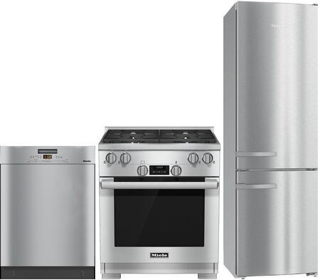 Miele 997519 3 piece CleanTouch Steel Kitchen Appliances Package