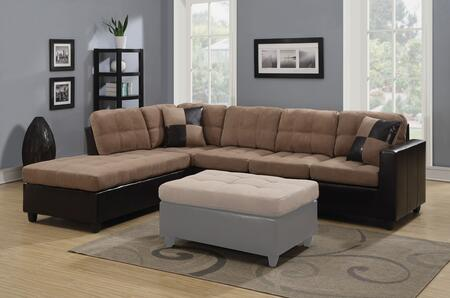 Coaster 505675 Mallory Series Sofa and Chaise Microfiber Sofa