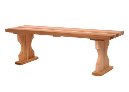 All Things Cedar BBXX Wide Backless Bench with Western Red Cedar Construction, Sanded Finish, Hand Crafted and Shaped Base