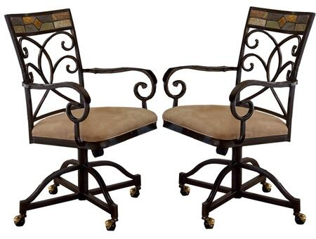 Hillsdale Furniture 4442806 Pompeii Series Traditional Fabric Metal Frame Dining Room Chair