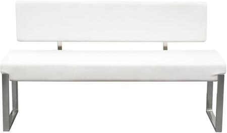 Diamond Sofa KNOXBBEWH Knox Series Accent Armless Metal Bench