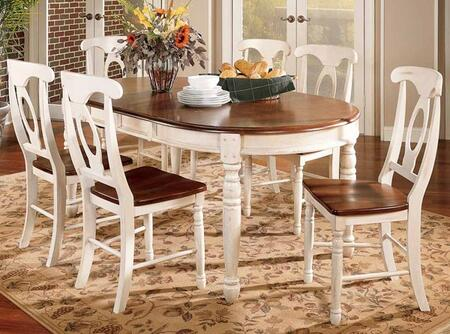 """AAmerica 6310 British Isles 52""""-76"""" Oval Leg Table with Two 12"""" Leaves and Wood on Wood Glides in"""