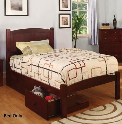 Furniture of America CM7903CHTBED Cara Series  Twin Size Bed