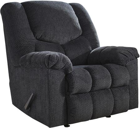 Signature Design by Ashley 5000425 Turboprop Series Contemporary Fabric Metal Frame Rocking Recliners