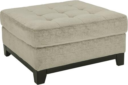 Milo Italia MI976209CHAL Daniella Series Contemporary Fabric Wood Frame Ottoman