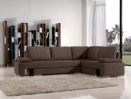 VIG Furniture 1104SECSOFA  Sofa and Chaise Fabric Sofa