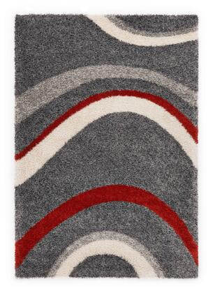 Citak Rugs 5660-050X Shoreline Collection - Drift - Graphite/Red