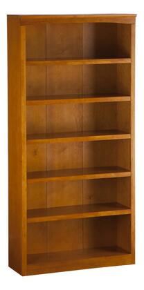 Atlantic Furniture H80067  Wood 5-6 Shelves Bookcase