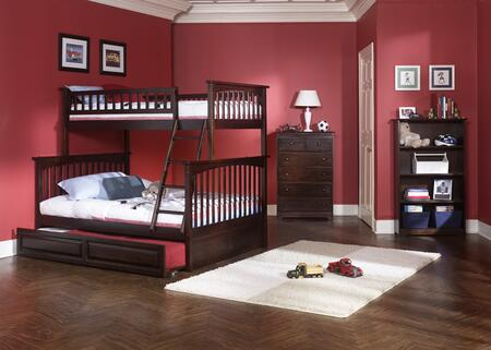 Atlantic Furniture YBBCOLUMBIATWINFULLAW Columbia Series  Full Size Bed