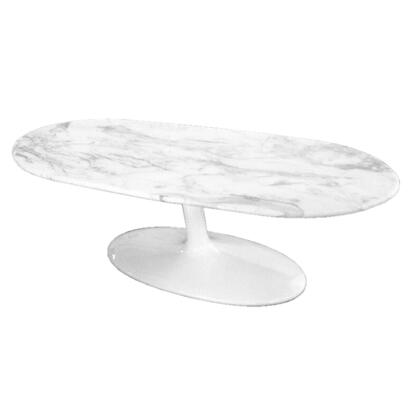 Fine Mod Imports FMI10177 Squaval Marble Coffee Table