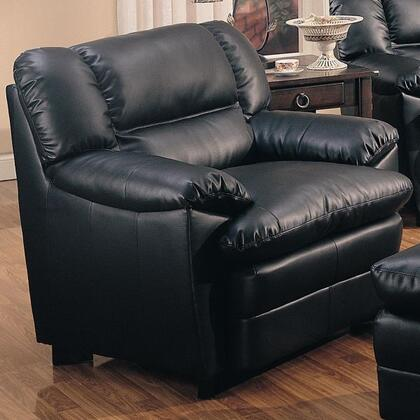 Coaster 501923 Harper Series Bonded Leather with Wood Frame in Black