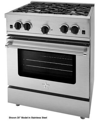 "BlueStar RCS36SBSS 36"" Freestanding Gas Range with Six Sealed Burners, Island Trim, Precise Simmer Burner, Full Motion Grates, Extra-Large Convection Oven, and Infrared Broiler"