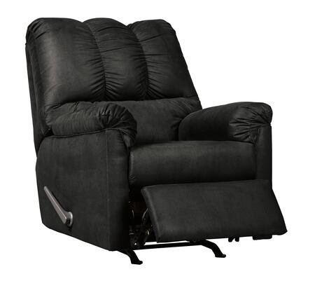 """Milo Italia Tristian Collection MI-5463DTMP 33"""" Rocker Recliner with Plush Padded Arms, Thick Divided Back Cushion and Metal Drop-In Unitized Seat Box in"""