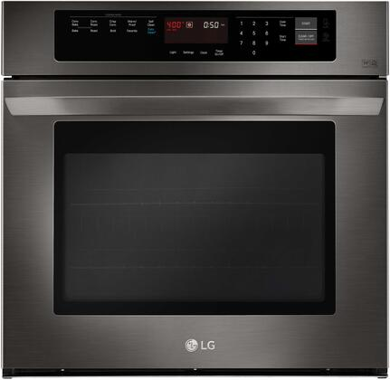 """LG LWS3063 30"""" Single Wall Oven with 4.7 cu.ft. Capacity, EasyClean, Brilliant Blue Interior, Convection, Heavy Duty Rack and Halogen Lighting, in"""