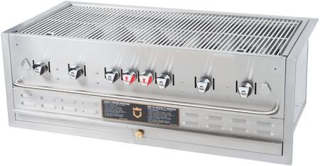 """Crown Verity CV-BI-48LP-NG 48"""" Natural Gas or Liquid Propane Built-In Grill Up to 99,000 BTUs and Pilot Burner Tube System in Stainless Steel"""